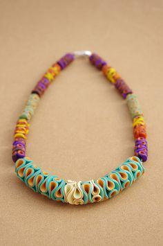 Polymer Clay Necklace Coralia