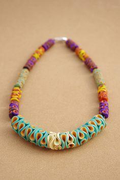 Polymer Clay Necklace Coralia