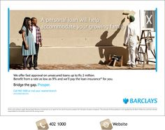 Barclays Unsecured Loan. Info: 402 1000