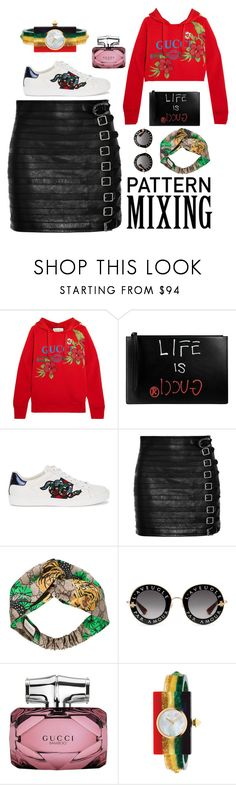 """Pattern mixing"" by canditacara ❤ liked on Polyvore featuring Gucci"