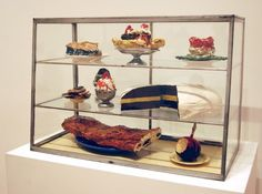 Claes Oldenburg's Store, 1961 Compare to Hesse latex work in glass cabinet...