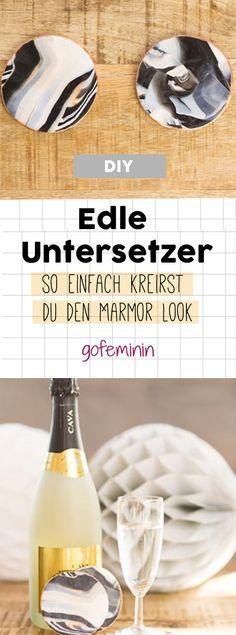 DIY-Untersetzer in Marmor-Optik aus Fimo: So einfach werden sie gemacht!