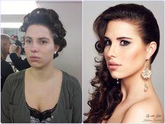 Glamour make-up, smokey eyes, Hairstyling
