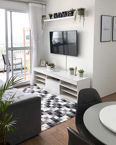 Small Apartment Interior, Studio Apartment Decorating, Apartment Living, Pinterest Room Decor, Living Room Designs, Living Room Decor, Tv Decor, Home Decor, Colourful Living Room