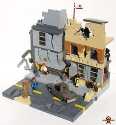 LEGO Fallout Street Diorama - Saber-Scorpion's Lair - Personal Website of Justin R. Stebbins