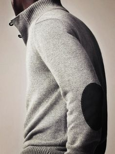 elbow patches on a sweater