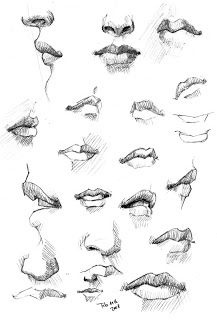 Karakalem Anatomik gözlemler (Anatomy drawing)