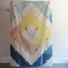 Instagram media by havecompany - @secretholidayco's log cabin quilt top made during her #havecompanyresidency so many incredible classes coming up from our residents, link in profile for schedule, details, & to sign up