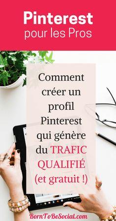Vous rêvez d'un TRAFIC QUALIFIÉ vers votre site web ? Envie de gagner en visibilité et d'augmenter vos ventes ? Voici comment créer un profil Pinterest qui attire VOTRE CLIENT IDÉAL. 10 pages de conseils webmarketing pratiques & détaillés. BornToBeSocial – Pinterest pour les Pros | Conseil & Accompagnement #Tuto #ExpertPinterest #PinterestPourLesPros #PinterestForBusiness #PinterestMarketing #webmarketing