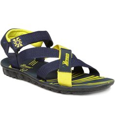 6d9acffc98df Buy Paragon Escoute 321 Men S Blue-Yellow Sandals Online at Low prices in  India on