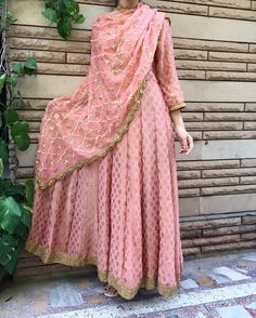 Excited to share this item from my shop: VeroniQ Trends-Fully Stitched Pure Banarasi Floor Length Anarkali Gown in Peach with Gota Patti Dupatta,Anarkali Dress,Long Gown,Anarkali-EJ Pakistani Dresses, Indian Dresses, Indian Outfits, Punjabi Dress, Punjabi Suits, Salwar Suits, Indian Attire, Indian Ethnic Wear, Ethnic Style