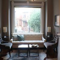 Life Begins at Thirty, Right? - living rooms - living room, martine chairs from RH, cowhide rug, silver fox, chloe sofa, macys chloe sofa, chloe fabric velvet sofa, macys chloe velvet sofa, white tufted sofa, swoop arm sofa, white swoop arm sofa, tufted chairs, gray tufted chairs, velvet chairs, gray velvet chairs, gray velvet tufted chairs, gray walls, gray wall paint, gray paint colors, small living room, cowhide rug,