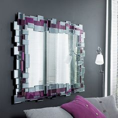 This high quality mirror uses mosaic tiles to create an irregular inner and outer edge to the mirror& frame. The effect of this distorted boundary is an amorphous appearance that allows the mirror to integrate beautifully with any surface in your home. Mirror Mosaic, Mosaic Tiles, Contemporary Furniture, Contemporary Mirrors, Marble Console Table, Small Pendant Lights, White Side Tables, Fabric Armchairs
