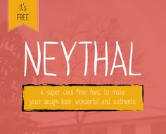 Neythal is a simple handwritten typeface that reflects innocence
