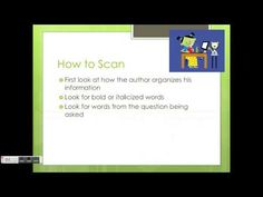 Skimming and Scanning - YouTube