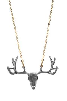 Antiqued Jumbo Deer Head Necklace on HauteLook $18
