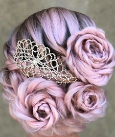 Braided Rose Hairstyle Is The Hottest New Trend And Everyone Is Obsessed With It tutorial videos diy lovely hairstyle hairdo braid gorgeous stunning perfect haircut hair color long hair stylish classy elegance short Cute Hair Colors, Beautiful Hair Color, Hair Dye Colors, Cool Hair Color, Pretty Hairstyles, Braided Hairstyles, Rose Hairstyle, Wedding Hairstyles, Fashion Hairstyles