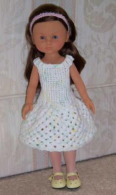 Textured knitted dress for Les Chéries, H4H dolls