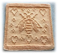 Ravelry: Save The Bees pattern by Lisa Vienneau Knitted Dishcloth Patterns Free, Knitted Washcloths, Crochet Dishcloths, Crochet Patterns, Knitting Stitches, Knitting Yarn, Baby Knitting, Save The Bees, Yarn Crafts