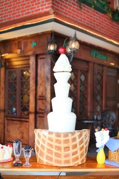 """""""Cherry On Top"""" Chocolate Fountain  www.rwchocolatefountains.com    Photo By Wings of Glory Photography"""