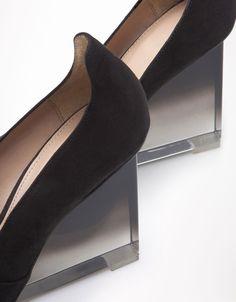 Bershka Kuwait - Bershka methacrylate degradé wedge sandals