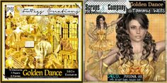"""FwTags Creations:Gorgeous BRAND NEW scrap kit - """"Golden Dance"""",Exclusive to S&Co and made as a match for Tammy welts beautiful tube named also """"Golden Dance"""" Kit by FwTags Creations found here and on sale; http://scrapsncompany.com/index.php?main_page=product_info&cPath=112_303&products_id=6611  Tube by Tammy's Welt,found here and on sale; http://scrapsncompany.com/index.php?main_page=product_info&cPath=112_287_398&products_id=6560"""