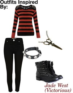 """Outfits Inspired By: Jade West (Victorious)"" by guardingangels on Polyvore"