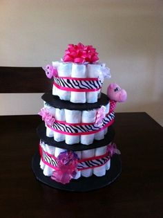Made to Order Diaper Cake for Baby Shower-50 Pampers Size 1 via Etsy
