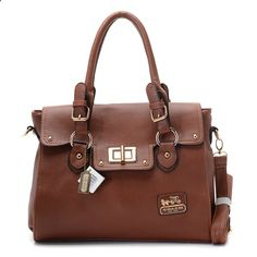 Coach Legacy Leather Turnlock Medium Tote Brown find more mens fashion on www.misspool.com I loooove this.