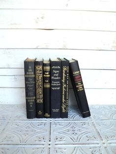 Black & Gold Statement Instant Library Book by sorrythankyou79, $36.00