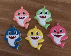 New baby onesies cookies etsy ideas Shark Birthday Cakes, Baby Boy 1st Birthday, Birthday Cookies, 1st Boy Birthday, Boy Birthday Parties, Birthday Ideas, Birthday Wishes, Shark Cookies, Baby Cookies