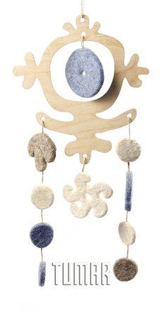 "Garlands ""Sun"". Felt - 100% wool. Handmade, solid-rolled, ala-qiyiz technique. Base - wood. Christmas collection 2016. Tumar Art Group."