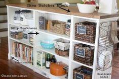 STENSTORP Kitchen island, white, oak | Dream Craft Room | Pinterest ...