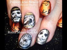 Nail Art! Poison Bottles and Skull Nails! Halloween Nail Design Tutorial - YouTube