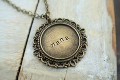 Fancy Filigree Hand Stamped Necklace - by Little Missy Kate's on Etsy. $20.00, via Etsy.