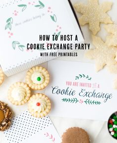 How to Host a Cookie Exchange Party with Free Printables. Great ideas from Confetti Sunshine!