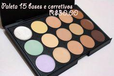 Paleta 15 Bases e Corretivos R$30,00