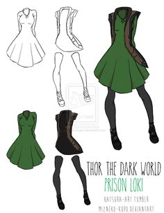 A great dress idea based on Loki's prison costume from Thor: The Dark World.