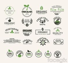 Free download 22 natural green food label vector . Free vector includes Vector material, organic foods, labelling, natural, farm products, classic. Category: Ve
