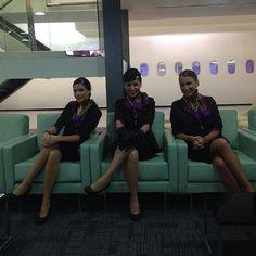Etihad Airways stewardesses @etihadairways by flygirl_et