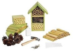 "Look! An insect hotel kit. So fun.   It's the ""Esschert Design DIY Insect Hotel Kit,"" $34.14 at Amazon.   #bughotel #insecthotel #beehotel"