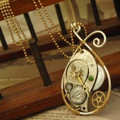 ** This Steampunk Classic Watch Elements Package will make 2 Necklaces and a couple of pairs of earr...