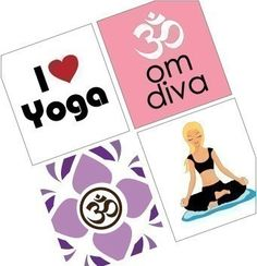 Scrabble Tile SIze Images  Yoga Girl  Digital by sparrowgraphic
