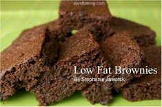 Low-Fat Brownie Recipe