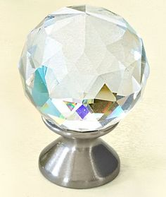 For a dose of Hollywood Regency–style glamour, consider the Crystal Faceted Knob. About $23 for four; Target