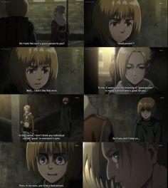 Attack on Titan, Shingeki no Kyojin, Armin. Bad person perspective