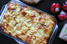 Sundae Brunch: Eggnog Challah French Toast Bread Pudding.