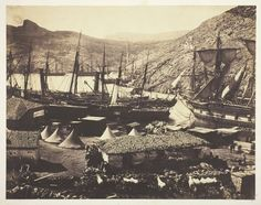 Cossack Bay, Balaklava, 1855, Roger Fenton (English, 1819–1869), salted paper print