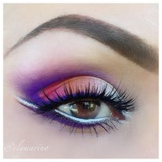 Bright Purple Cut Crease.  If you are bashful this look ain't for you!
