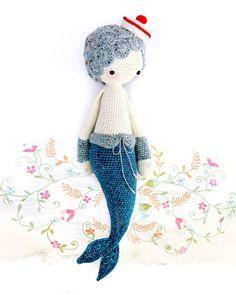 Patrón muñeco amigurumi crochet sirena - crochet y ganchillo - en DaWanda.es